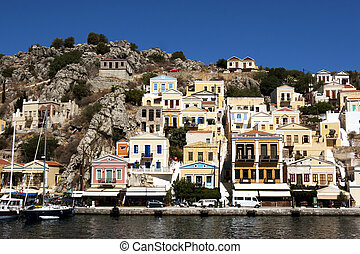 the island of simi in greece
