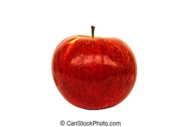 The isolated red apple on a white background