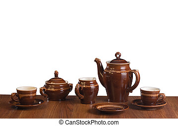 The isolated ware for coffee on a white background - Empty...