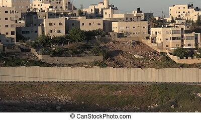 The Israeli West Bank barrier in East Jerusalem