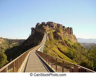The Italian hill town of Civita di Bagnoregio