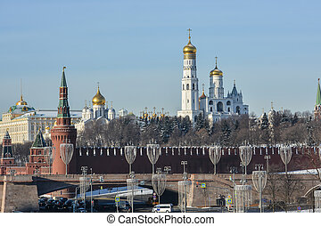 The Ivan the Great bell tower in the Moscow Kremlin.