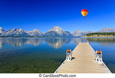 The Jackson Lake in Grand Teton National Park