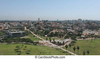 The Jaffa park in Tel Aviv shot clip