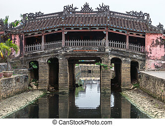 The Japanese bridge and temple in Hoi An, Vietnam.