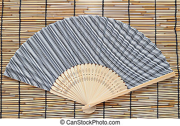 Japanese folding fan - The Japanese folding fan on...