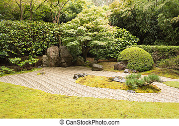 The Japanese Tea Garden in Golden Gate Park in San Francisco...