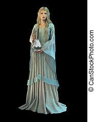 The Jar, 3d CG - 3d computer graphics of an elven princess...