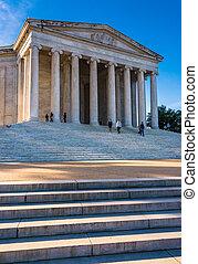 The Jefferson Memorial, in Washington, DC.
