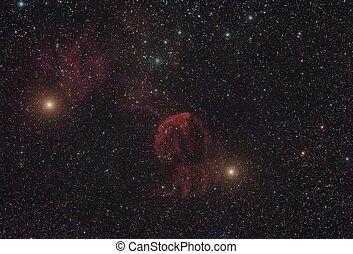 The Jellyfish Nebula - IC 443, the Jellyfish Nebula, a...