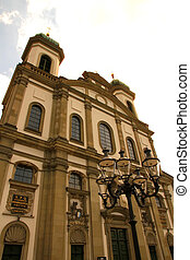The Jesuit Church in Lucerne - The Jesuit Church in Lucerne,...