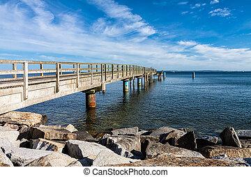 The jetty in Sassnitz (Germany) on the island Ruegen.
