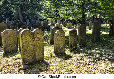 The Jewish cemetery in  Copenhagen, Denmark