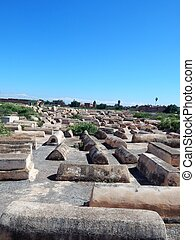 The jewish cemetery of Marrakech
