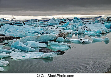 The Jokulsarlon lagoon in Iceland