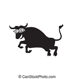 The Jolly bull logo on a white isolated background. Vector image
