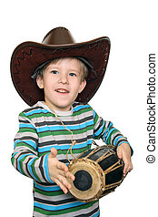 The joy of the sounds - Emotional kid beats the drum