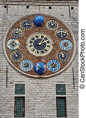 The Jubilee clock on the Zimmer Tower, Lier, Belgium