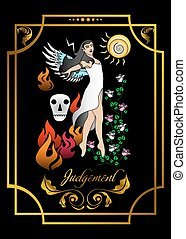 the judgement card - the illustration - card for tarot - the...