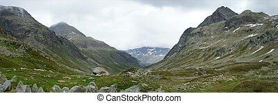 The Julier Pass in Switzerland