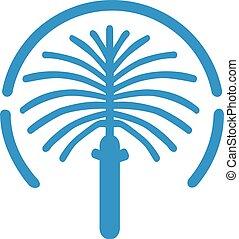 The jumeirah palm island map