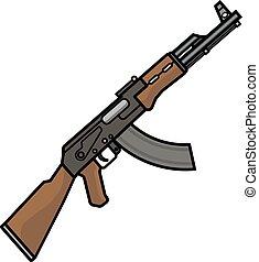 The Kalashnikov assault rifle. - The Kalashnikov assault...