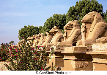 The Karnak Temple Complex in Luxor, Egypt