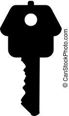 key - the key to the house symbol