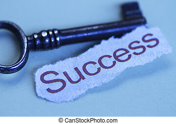 The keys to success abstract in bluish color background