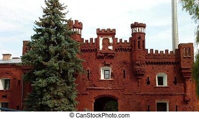 The Kholmsky gate at the Brest Fortress in Brest, Belarus....