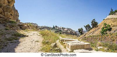 The Kidron Valley in Jerusalem, Israel