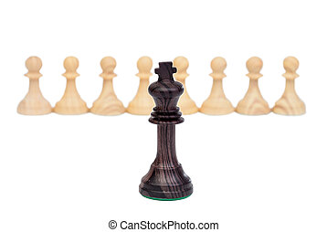 The king against pawns.