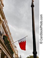 The Kingdom of Bahrain flag