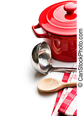 kitchenware on white background - the kitchenware on white...