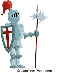 The knight in an iron armour