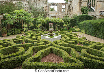 The Knot garden of Sudeley Castle