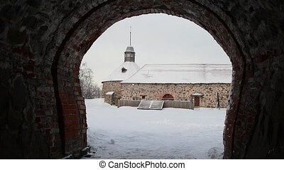 The Korela fortress winter. Priozersk, Russia - Old Korela...