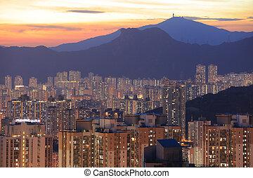Kowloon side in Hong Kong