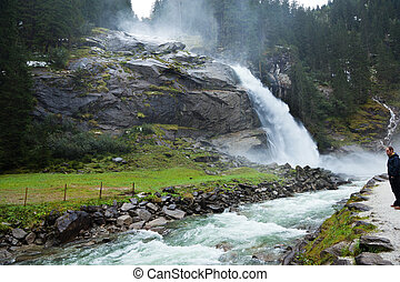 krimmel waterfalls in austria - the krimmel waterfalls in...
