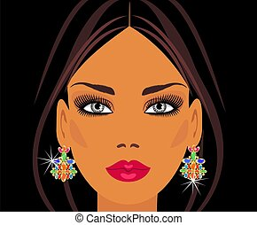 the lady in the precious earrings