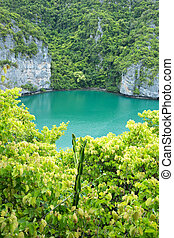 lagoon - The lagoon called 'Talay Nai' in Moo Koh Ang Tong...