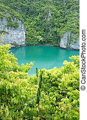 lagoon - The lagoon called 'Talay Nai' in Moo Koh Ang Tong ...
