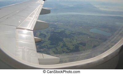 The Lake From Airplane Window