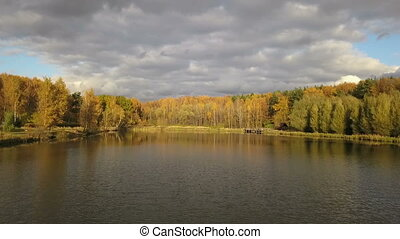 The Lake in autumn forest