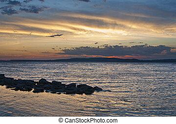 The Lake Sunset