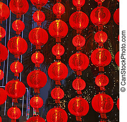 The lamps in the Chinese new year
