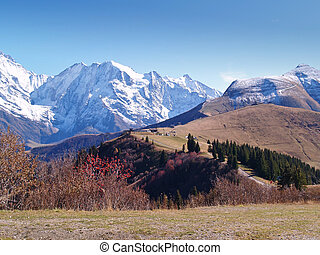 The land of Mont-Blanc, French Alps
