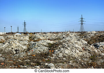 landfill of industrial waste