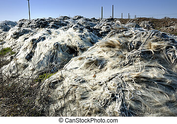 The landfill of industrial waste (glass fiber)