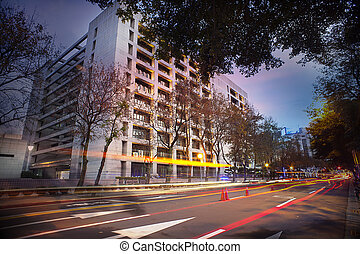 The landscape at night in taipei